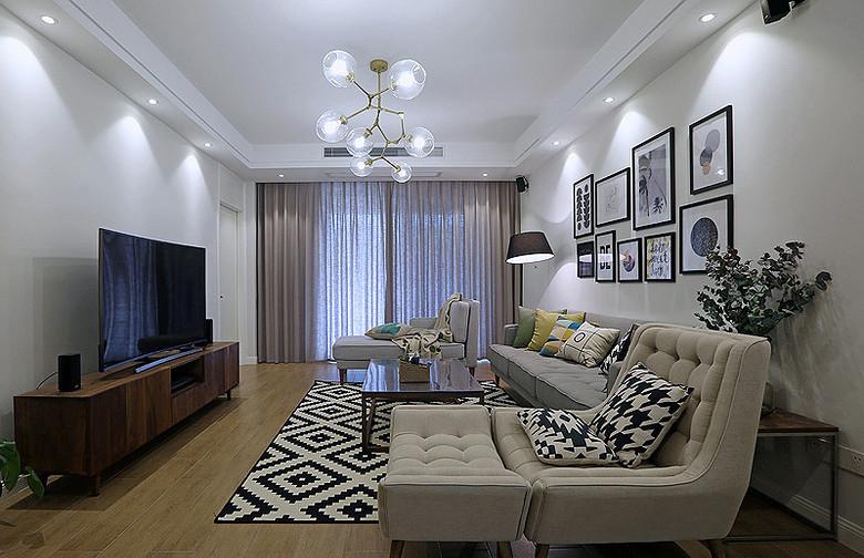 客厅图片来自家装大管家在明快简洁 170平现代淡雅舒适3居的分享