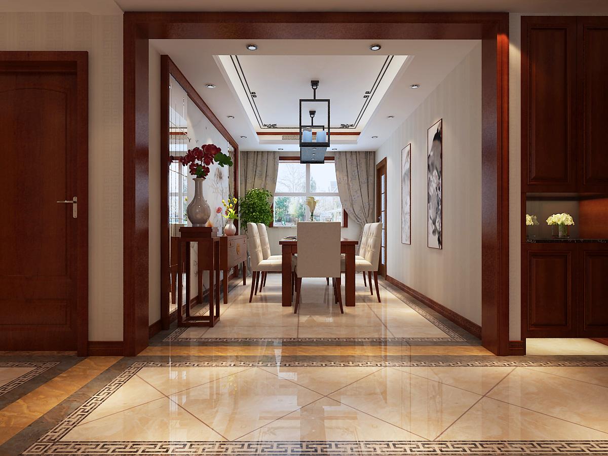 四居 中式风格 餐厅图片来自乐豪斯装饰张洪博在石家庄西部枫景四室装修效果图的分享