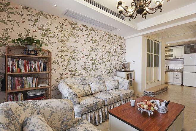 田园 白领 收纳 二居 简约 客厅图片来自武汉苹果装饰在猫舍—田园舒雅的分享