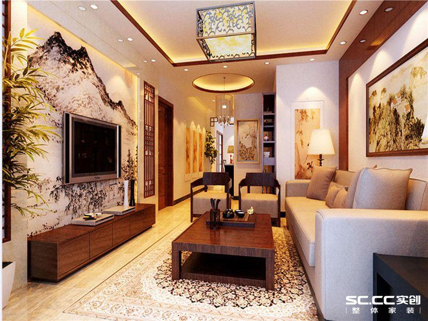 中式 三居 金泰先锋 大户型装修 最美效果图 客厅图片来自武汉实创装饰张娟在经典中式的分享