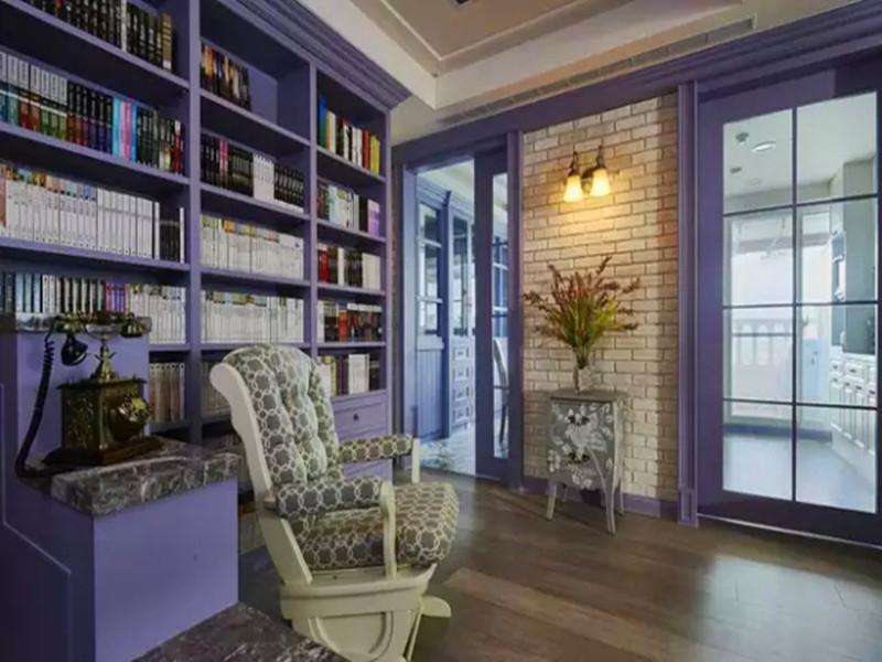 混搭 三居 白领 收纳 旧房改造 小资 客厅 书房图片来自沙漠雪雨在136平米惊艳薰衣草浪漫城堡的分享