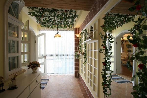 """阳台设计效果图  田园风格倡导""""回归自然"""",美学上推崇""""自然美"""",认为只有崇尚自然、结合自然,才能在当今高科技快节奏的社会生活中获取生理和心理的平衡。"""