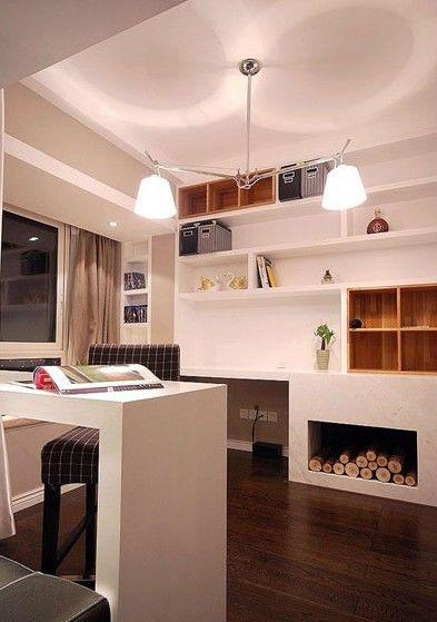 书房图片来自今朝装饰张智慧在89平黑白灰时尚三居室的分享