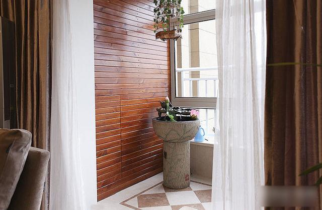 简约 三居 收纳 旧房改造 80后 124平两室 阳台图片来自上海实创-装修设计效果图在124平两室一厅 现代简约风格家的分享