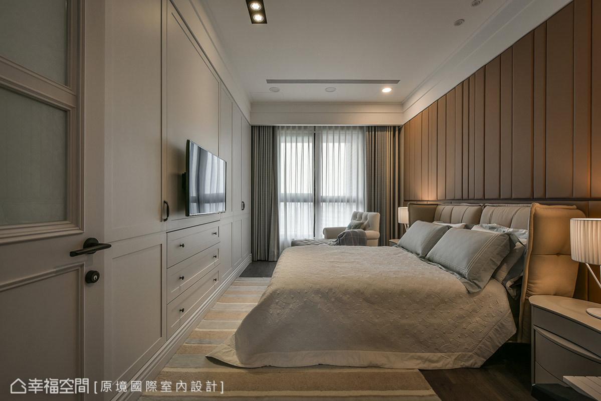 三居 美式 收纳 小资 卧室图片来自幸福空间在198平人文质韵 构筑悠然生活态度的分享