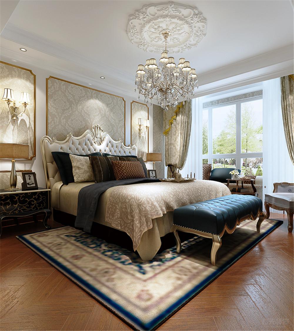 三居 简欧 华远波士顿 卧室图片来自阳光放扉er在力天装饰-华远波士顿 139㎡的分享
