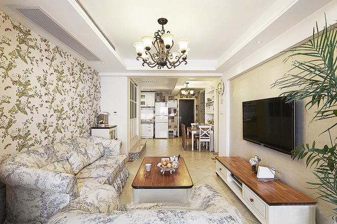 田园 白领 收纳 二居 简约 客厅图片来自武汉苹果装饰在苹果装饰-蓝晶绿洲装修案例的分享