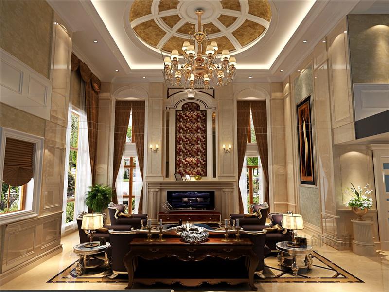 欧式 别墅 蓝岸丽舍 新古典 客厅 客厅图片来自沙漠雪雨在603平米优雅大气欧式新古典别墅的分享