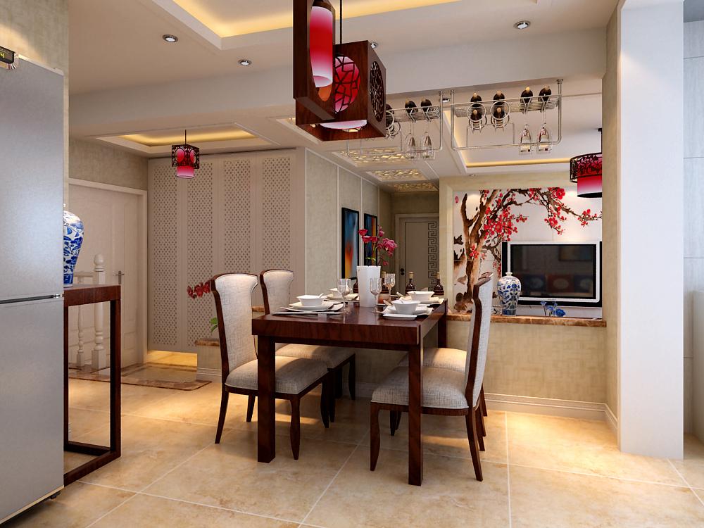 三居 中式 餐厅图片来自乐豪斯装饰张洪博在石家庄华基君程中式风格的分享