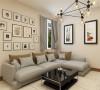 客厅设计讲究的是简约、稳重,深色的电视柜、茶几,浅色的沙发,餐桌使得整个空间即稳重又清新,布艺的沙发为空间增添温暖简洁干净的气息。
