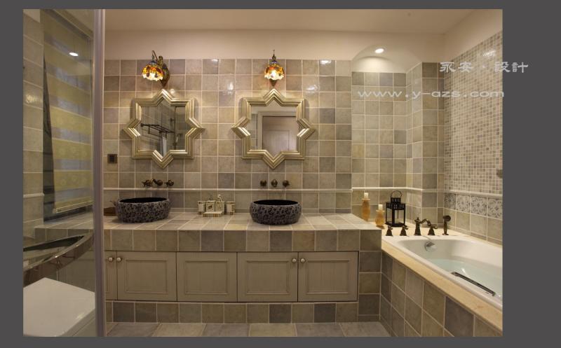 设计 家装 美式 田园 混搭 四居 永安设计 卫生间 浴室图片来自深圳永安装饰设计在深圳永安设计中海康城美式田园的分享