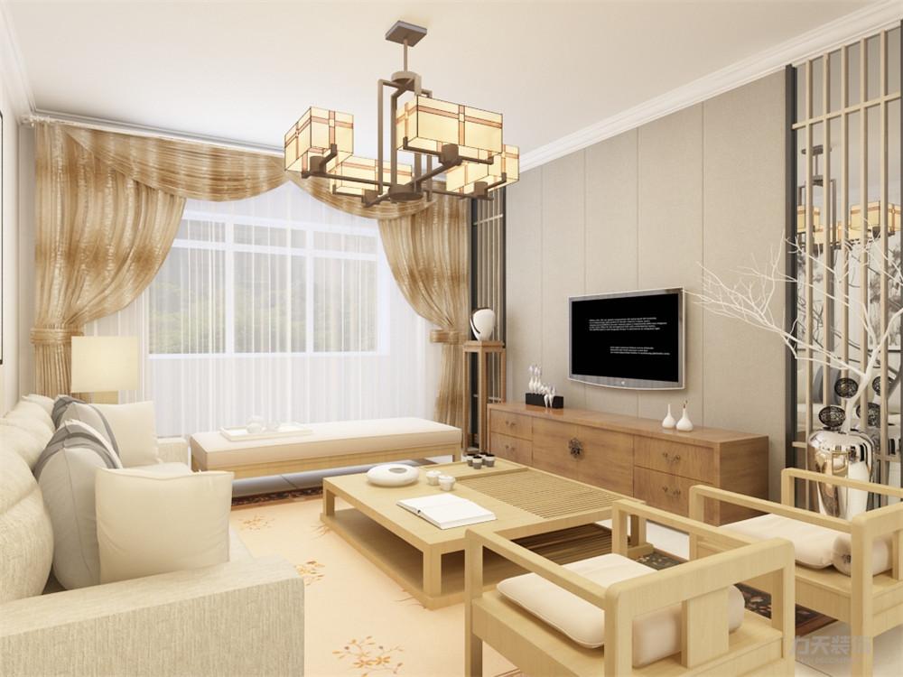 三居 中式 天津华侨城 客厅图片来自阳光放扉er在力天装饰-天津华侨城-126㎡-中式的分享