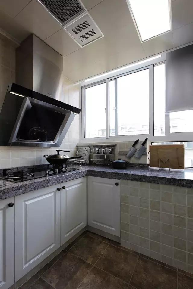 简约 美式风格 复式装修 厨房图片来自实创装饰上海公司在150㎡复式简美风,太实用啦!的分享