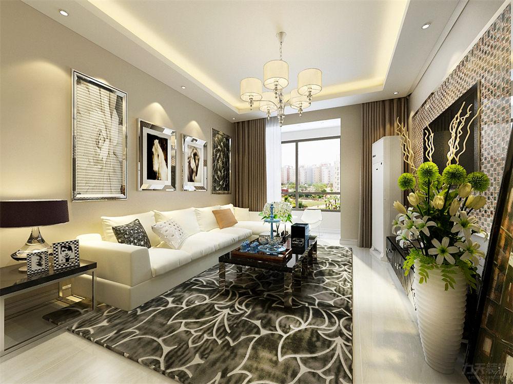 二居 简约 现代 泰禾世家 客厅图片来自阳光放扉er在力天装饰-泰禾世家88㎡的分享