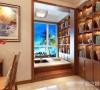 本方案为三室两厅结构,餐厅稍作改动,增加开放式书房区域。整体为中式风格,以暖色壁纸为主体,配以石材及中式花格。