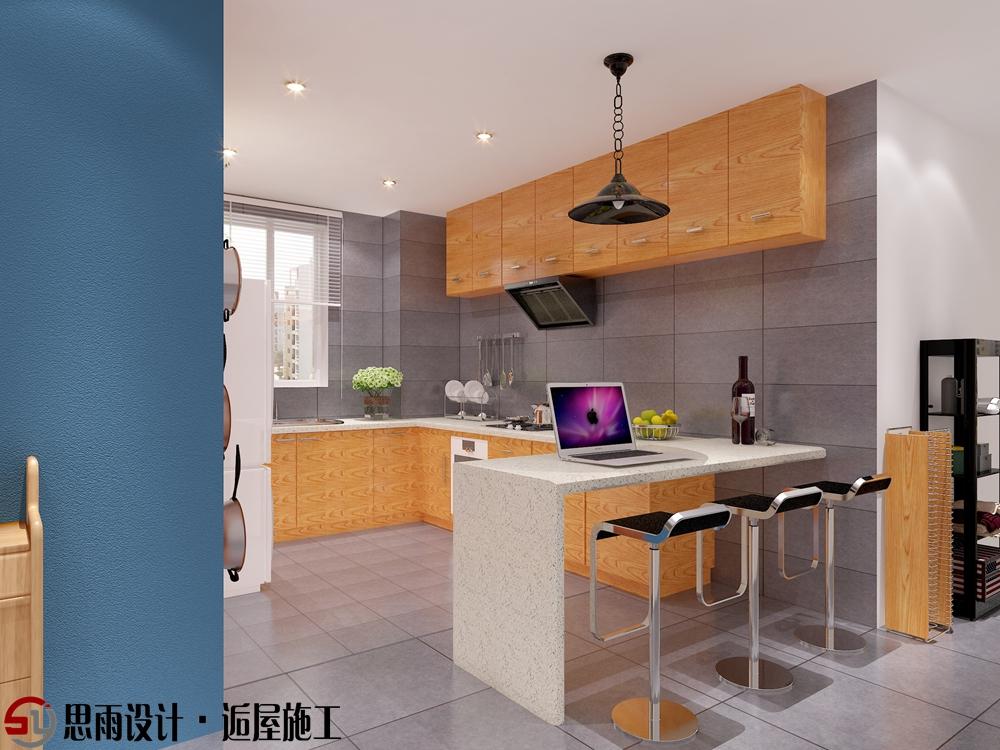 厨房图片来自思雨易居设计-包国俊在《蓝调摩登》130平后现代风格的分享