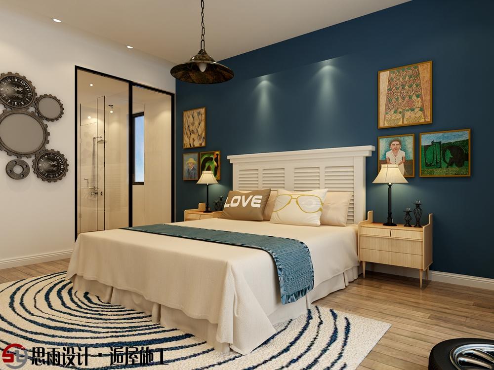 卧室图片来自思雨易居设计-包国俊在《蓝调摩登》130平后现代风格的分享