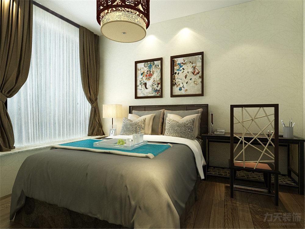 三居 中式 诺德名苑 卧室图片来自阳光放扉er在力天装饰-诺德名苑125㎡的分享