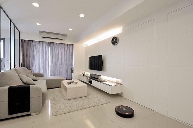 简约 二居 80后 客厅图片来自rongzhimei在86平方现代2居的分享