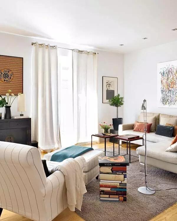 客厅1图片来自家焕然一馨在80㎡优雅两居超别致的中西混搭风的分享