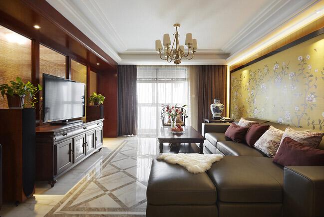 简约 中式风格 新中式风格 三居 桐梓林一号 80后 客厅图片来自成都V2装饰在三居 造型简单不失韵味的分享