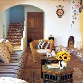 二居 旧房改造 收纳 客厅 地中海 卧室 楼梯 简约 田园 客厅图片来自实创装饰晶晶在地中海风格的分享