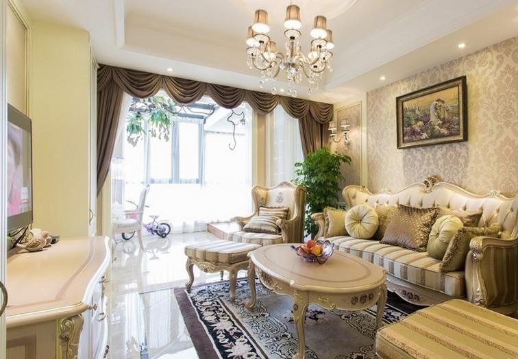 简约 欧式 混搭 三居 舒适风格 白领 80后 小资 客厅图片来自成都V2装饰在贵气典雅 打造简欧风住宅的分享