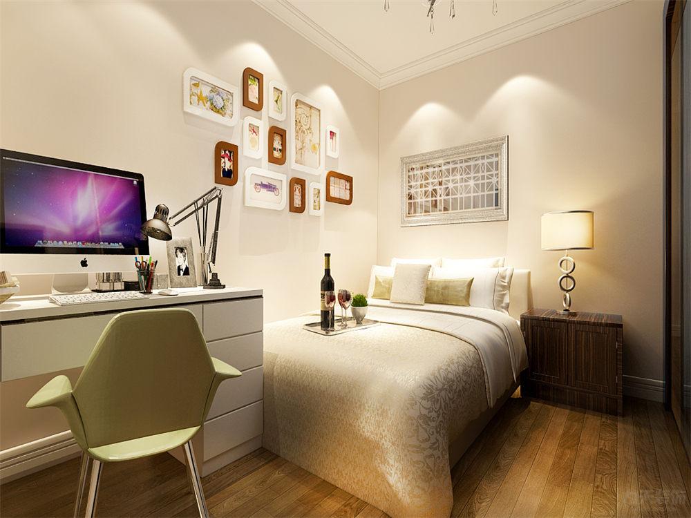 二居 简约 现代 泰禾世家 卧室图片来自阳光放扉er在力天装饰-泰禾世家88㎡的分享