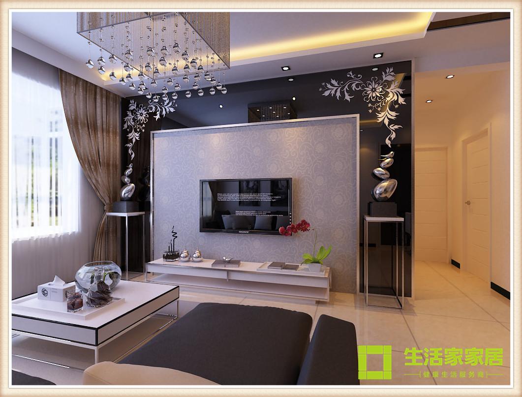 客厅图片来自天津生活家健康整体家装在金桥公园壹号简约装修效果案例的分享