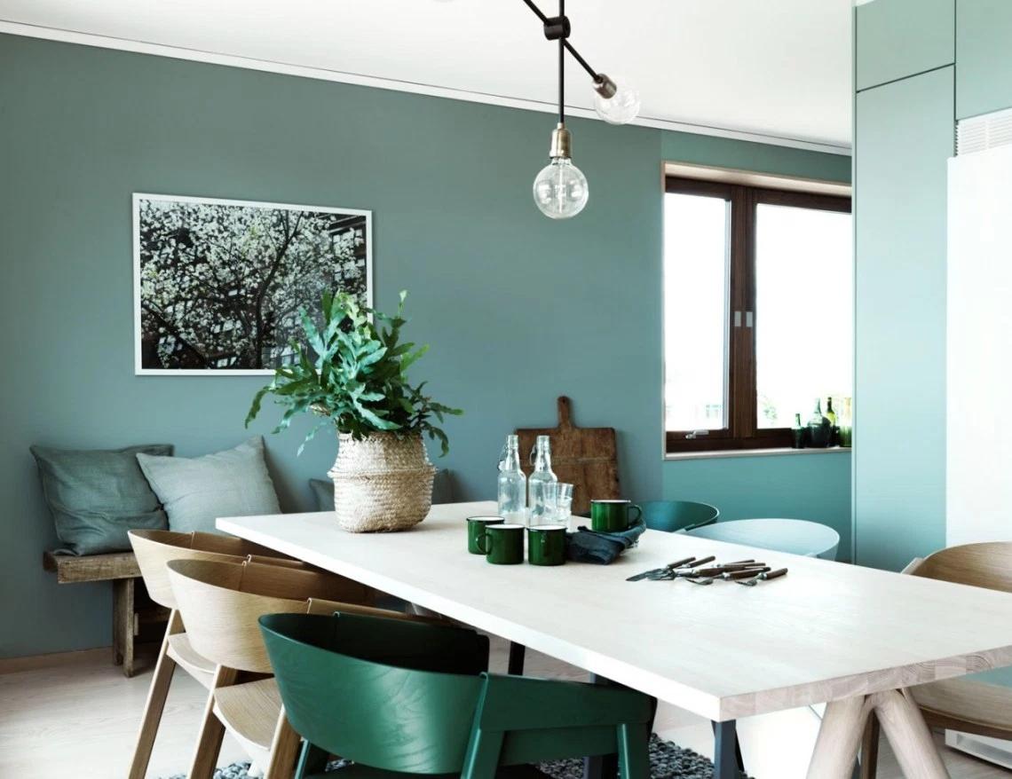 前卫现代 色彩搭配 二居 小资 餐厅图片来自玉玲珑装饰在李女士绿色有新意的家的分享