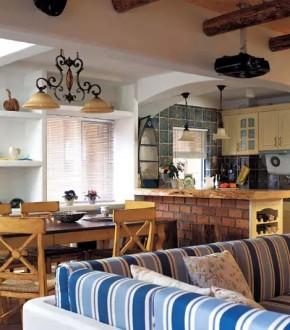 二居 旧房改造 收纳 客厅 地中海 卧室 楼梯 简约 田园 餐厅图片来自实创装饰晶晶在地中海风格的分享