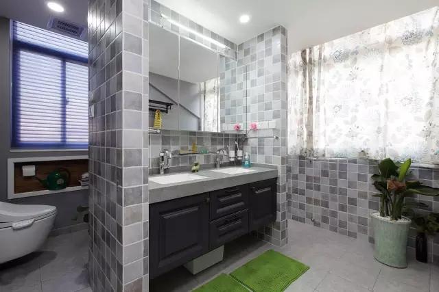 简约 美式风格 复式装修 卫生间图片来自实创装饰上海公司在150㎡复式简美风,太实用啦!的分享