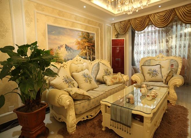 简约 欧式 混搭 三居 白领 80后 小资 龙门镇 客厅图片来自成都V2装饰在欧式奢华风格 100平米三居室的分享