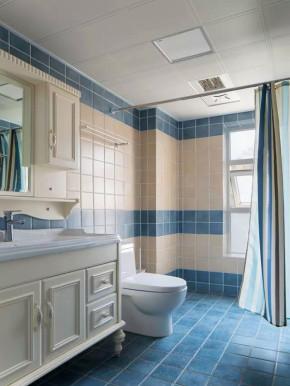 地中海 三居 白领 收纳 旧房改造 小资 客厅 卫生间图片来自沙漠雪雨在110平米浪漫别有情调地中海三居的分享