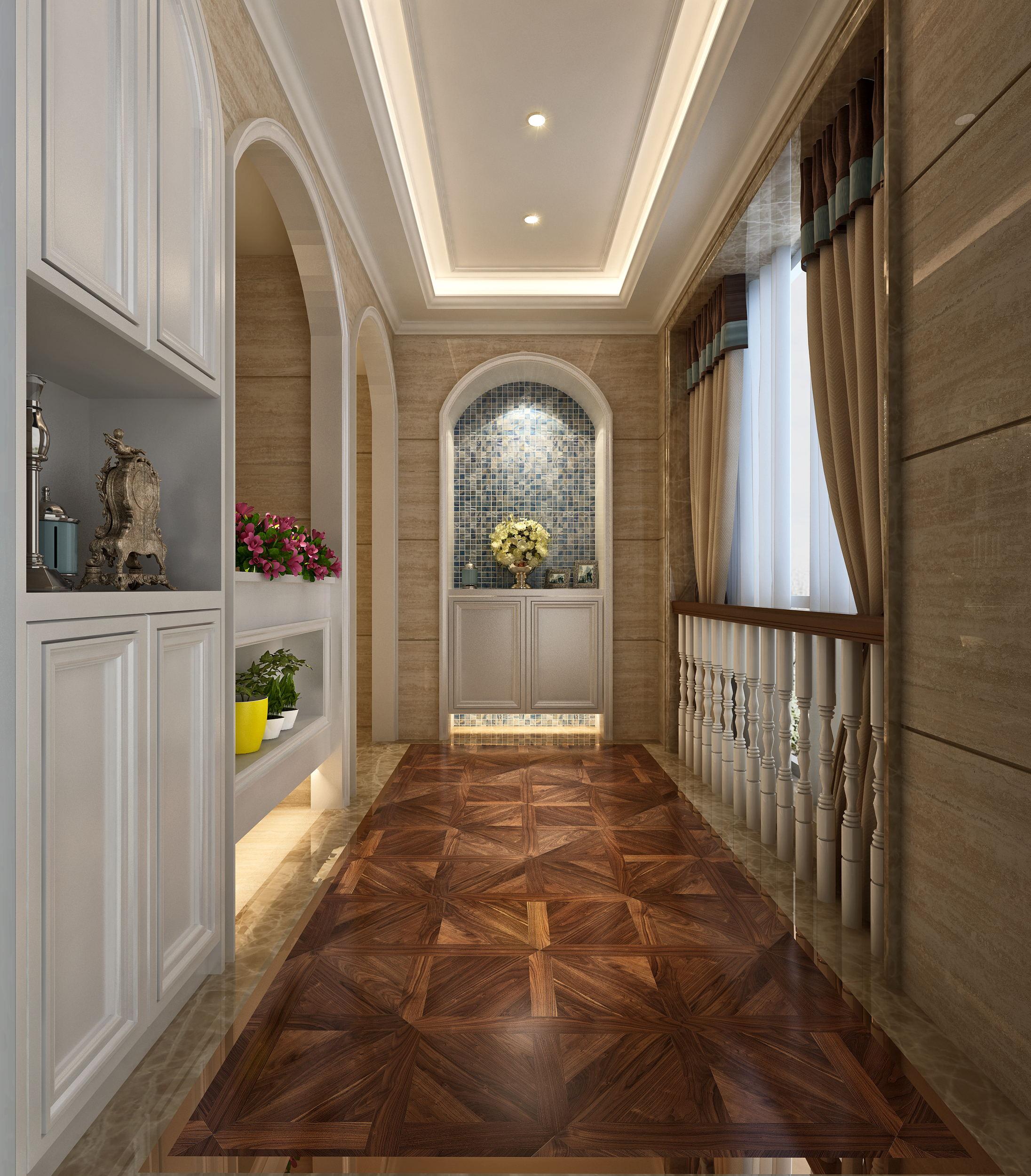 欧式 小资 别墅 混搭 田园 简约 三居 玄关图片来自唐锋设计在世茂滨江新城的分享