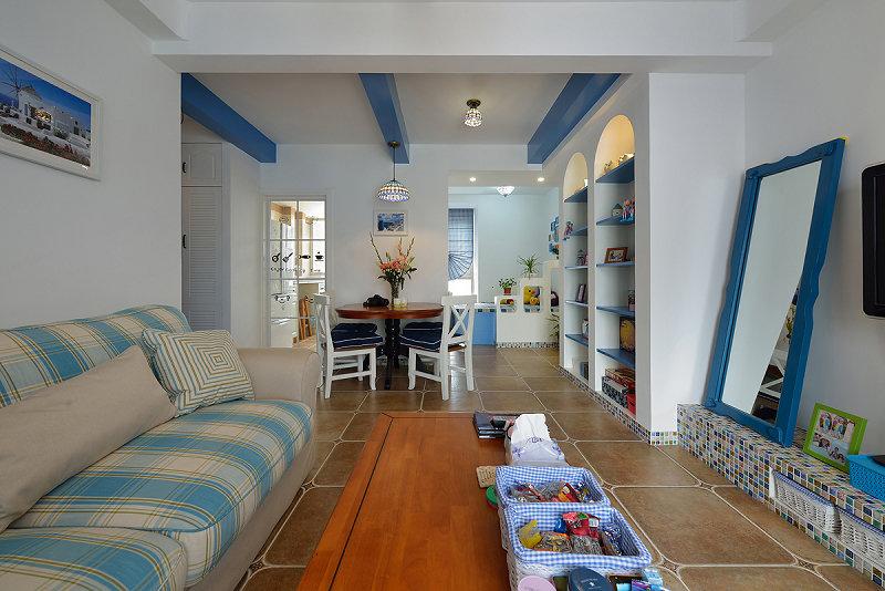 客厅图片来自玉玲珑装饰在于先生蓝调地中海的新房的分享