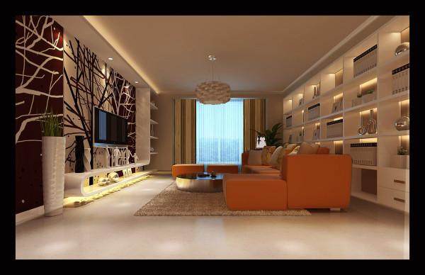 生活家装饰--中广宜景湾160平米现代风格客厅装修效果图