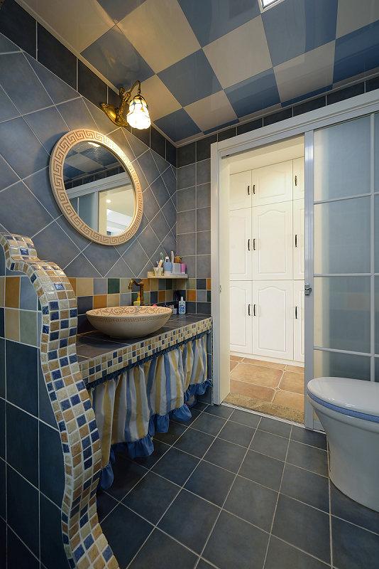 卫生间图片来自玉玲珑装饰在于先生蓝调地中海的新房的分享