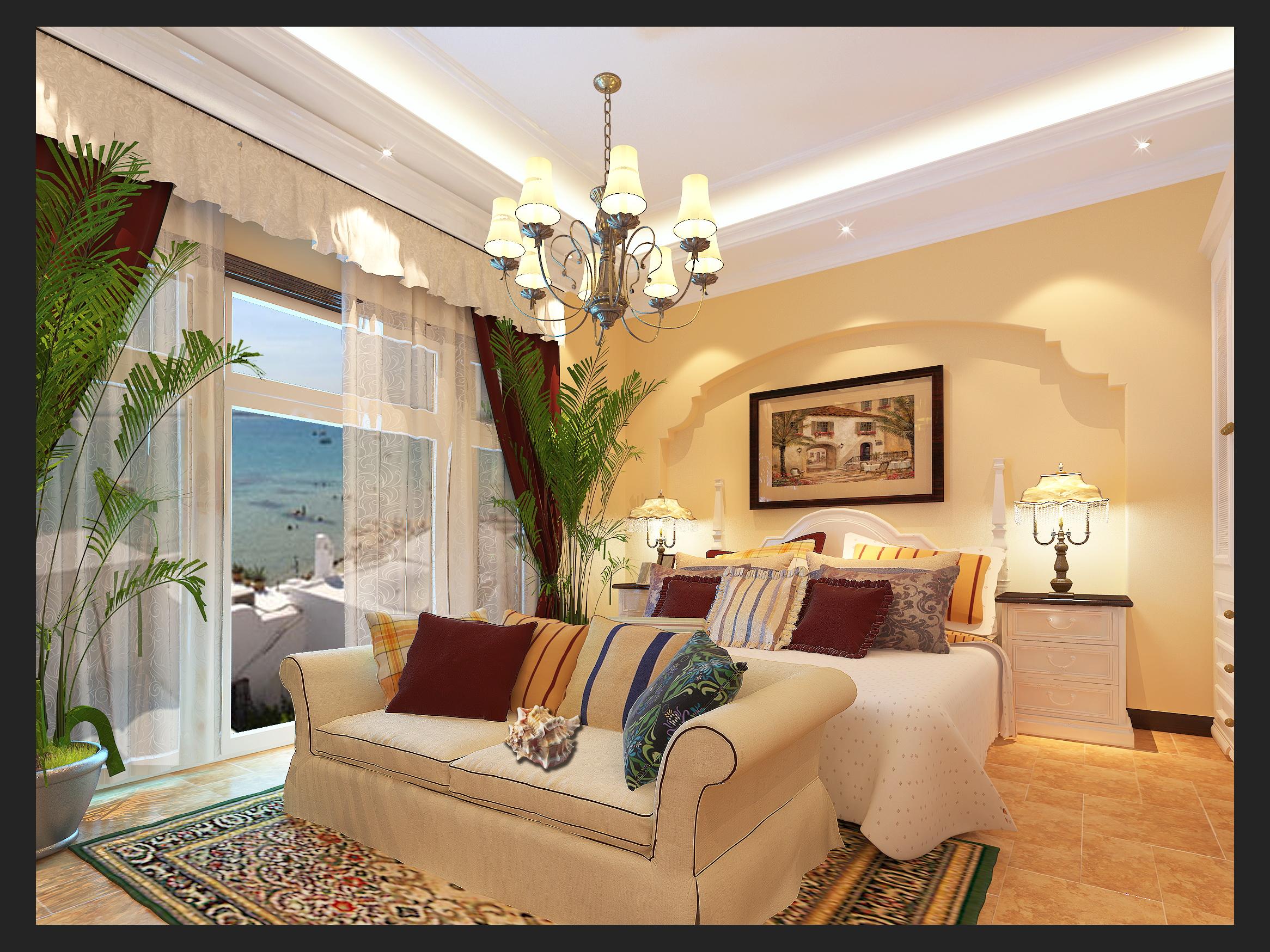 卧室 客厅 餐厅图片来自苏簌在方庄南路地中海风格的分享