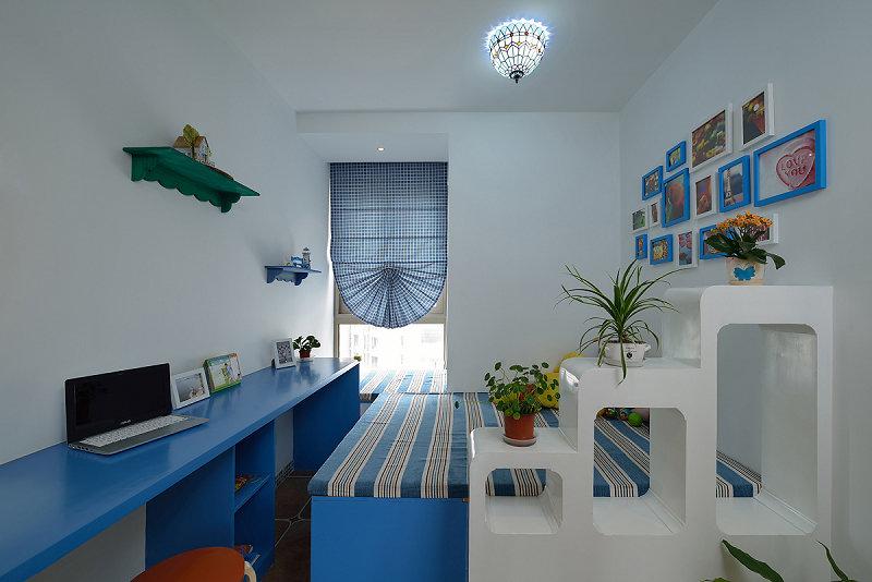 书房图片来自玉玲珑装饰在于先生蓝调地中海的新房的分享