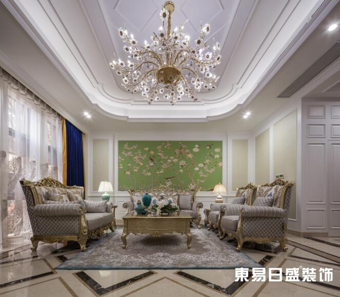 新古典 浪漫 别墅 小资 客厅图片来自武汉东易日盛在万科红郡-新古典-王斌的分享