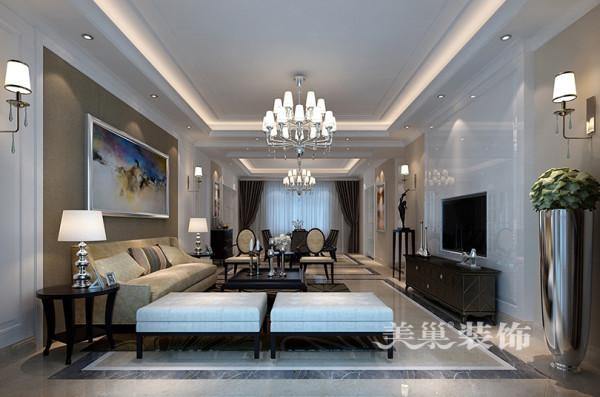 洛阳凤翔山庄装修样板间效果图4室2厅200平户型案例设计