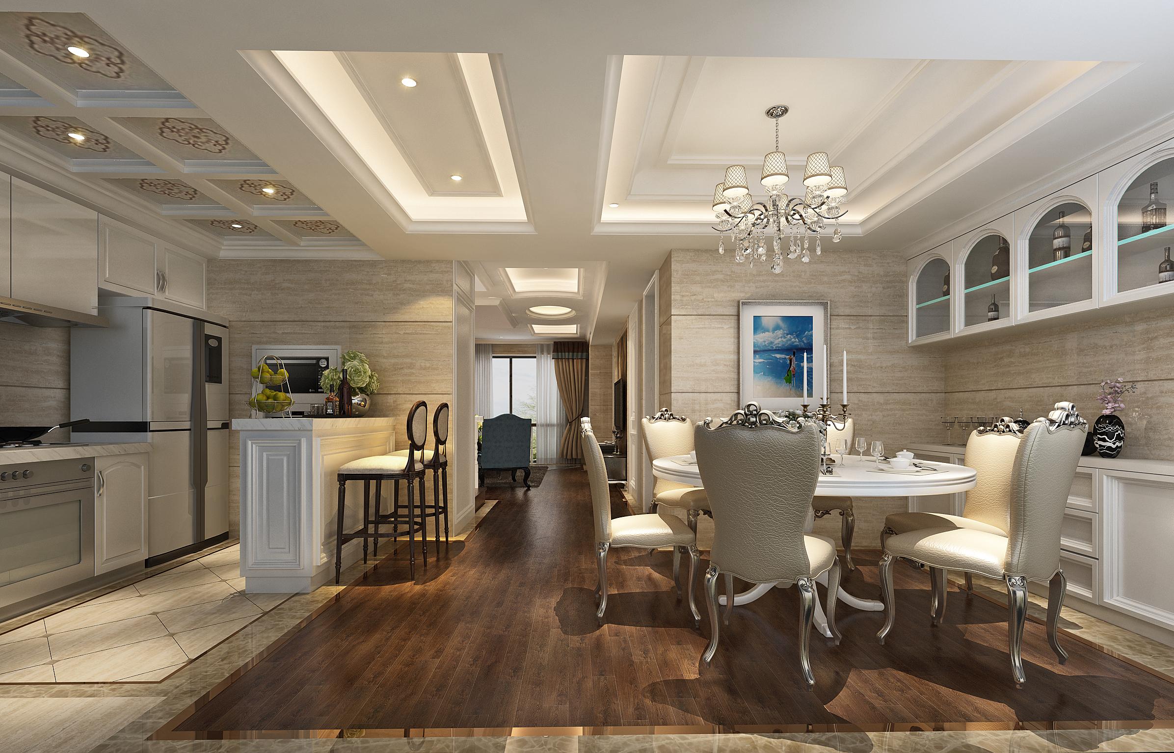 欧式 小资 别墅 混搭 田园 简约 三居 餐厅图片来自唐锋设计在世茂滨江新城的分享