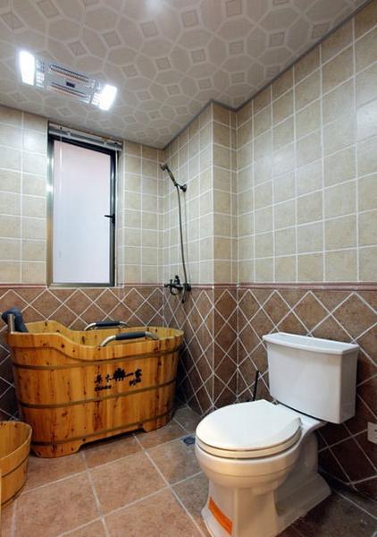 二居 旧房改造 田园 卫生间图片来自今朝装饰张智慧在清新两居室,美式变田园的分享