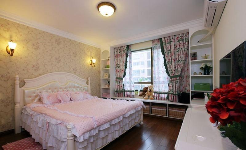 二居 旧房改造 田园 卧室图片来自今朝装饰张智慧在清新两居室,美式变田园的分享