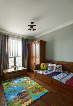 简约 新古典 三居 白领 儿童房图片来自家装大管家在精致优雅小资 120平现代美式3居的分享