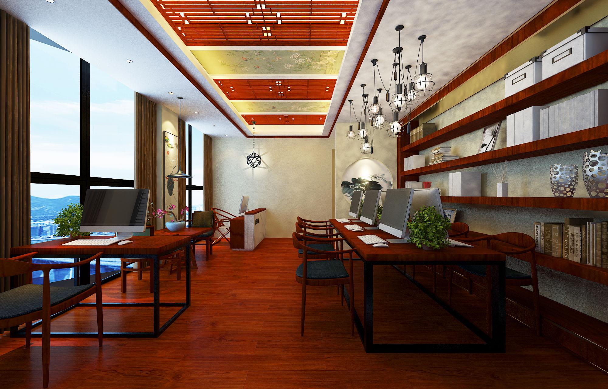 君子兰装饰 万达中心 郑州万达装 万达装修设 办公装修 办公设计 客厅图片来自流落四方在万达中心中式古典办公的分享
