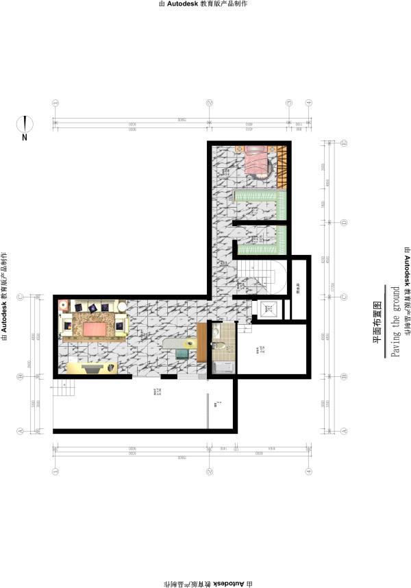 生活家装饰--渡上依水500平米独栋别墅美式乡村地下一层平面布置图