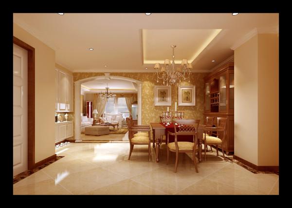 生活家装饰--韦伯豪家园130平米简欧风格餐厅装修效果图