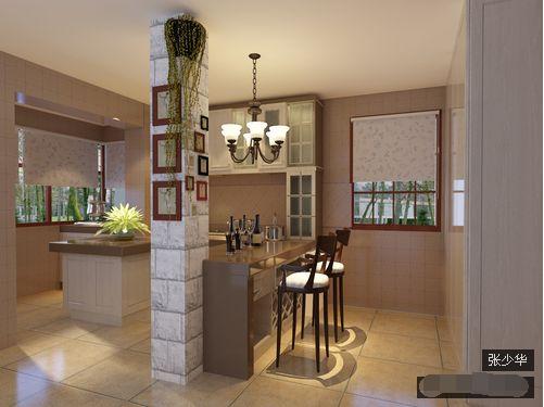 二居 餐厅图片来自西安紫苹果装饰工程有限公司在欧美风情4的分享
